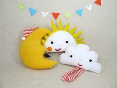 Plush Pillow Toy  Miss Sunshine by violastudio on Etsy, $35.00