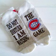 Your place to buy and sell all things handmade Montreal Canadiens, Hockey Season, Football Season, Canadian Gifts, Beer Socks, Hockey Socks, Teacher Christmas Gifts, Christmas Ideas, Hockey Gifts