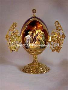 Russian Imperial Romanov Faberge Christmas Nativity Gold Egg #BlingSerendipity #jeweled #eggs #Russia #Faberge #antique