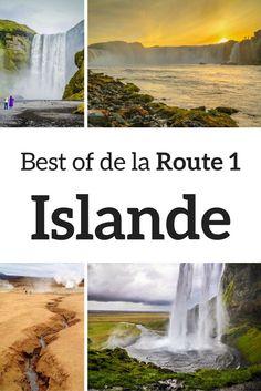 Découvrez 7 des meilleurs arrêts le long de la route 1 Islande (aussi appelée routes circulaire, Ring Road). Cascade, zone géothermiques, icebergs... Tout ça visible depuis la route principale d'Islande - Photos et infos pour planifier votre voyage en Islande