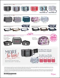 All the great prints for the November Special. Medium Utility Totes and Square Utility totes for only $7 with a $35 purchase. The Hostess Special is amazing.