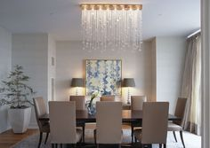 Lighting in this dining room: Cascade Divide | Boyd Lighting