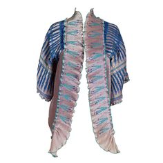 Zandra Rhodes Silkscreened Fan Pleated Jacket | From a collection of rare vintage jackets at https://www.1stdibs.com/fashion/clothing/jackets/