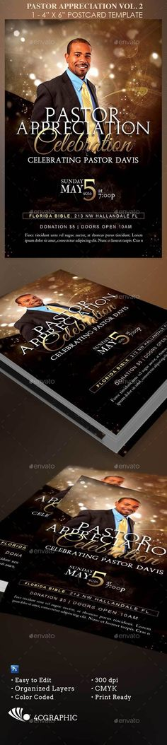 Pastoral Anniversary Flyer Template #Flyerthemes | Church Flyer