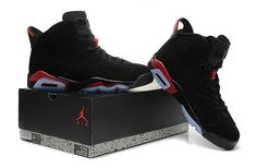Air Jordan AJ6 Retro Perfect Jordan 6 Basketball Shoes Men And Women Black Red|only US$98.00 - follow me to pick up couopons.