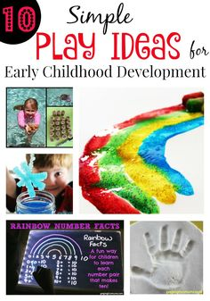 Top 10 Simple Play Ideas for Early Childhood Development! Loving  these ideas!
