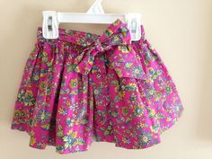EUC Ralph Lauren Size 2T Beautiful Floral Detail Lined Skirt with Sash #RalphLauren