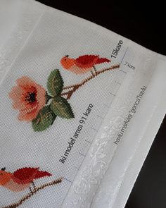 Cross Stitch Embroidery, Cross Stitch Patterns, Bargello, Amazing Flowers, Embroidered Towels, Bath Linens, Cross Stitch Art, Monogram Tote, Cushions