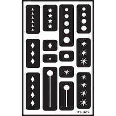 """Geometric Over 'n' Over Reusable Glass Etching Stencils 5""""X8"""" 1/Pkg GE21-1629"""