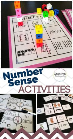 A new blog post about my number sense activity pack. Great math centers for your kindergarten classroom to work on number sense, number recognition, number formation and representing numbers.