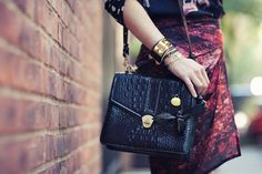 The beautiful #brahmin olivia rose satchel spotted on the streets of #NYFW