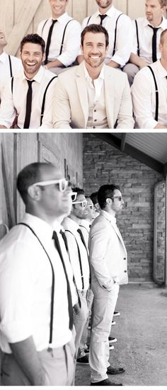 Love these photos of a wedding party. And colors for the guys?! Very simple. Maybe a purple tie instead.
