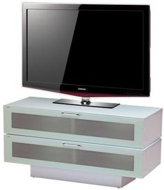 Finished in high gloss white this TV stand features 2 drop down glass doors which complement the white high gloss finish perfectly, helping to conceal large cupboards ideal for storing your DVD's, DVD or Blu-ray player, satellite box and games consoles.