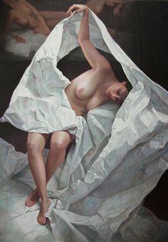 "Saatchi Art Artist Soledad Fernandez; Painting, ""Descubriendose"" #art"