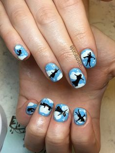 """Every time you look at this magical Disney manicure of """"Peter Pan"""" characters, you'll think happy thoughts."""