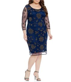 Shop for Pisarro Nights Plus Floral-Beaded Sheath Dress at Dillards.com. Visit Dillards.com to find clothing, accessories, shoes, cosmetics & more. The Style of Your Life.