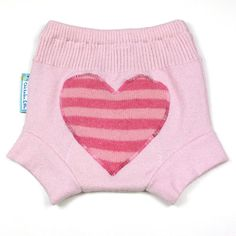Wool Soaker Diaper Cover I HEART U Small 0-9M by chickadeeandme