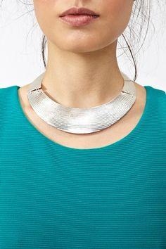 Pierced Collar Necklace