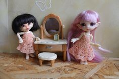Crocheted Silky Dress for pukipuki, realpuki and other similar bjd by AllaPtiHandmade on Etsy