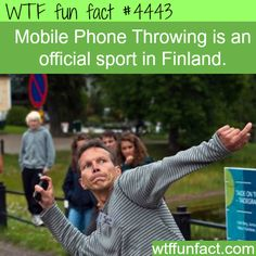 Finland's Official Sport - Mobile Phone Throwing - ~WTF!?! Weird & fun facts