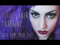 How to make purple hair dye using Gentian Violet.