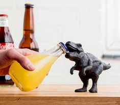 If you could choose any animal alive, dead, extinct, or imaginary to open your bottle of beer, I think the Tyrannosaurus Rex would probably take the cake for me. They just have the perfect jaw angle, ...