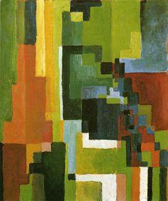 アウグスト・マッケ 「色彩のフォルムⅡ」 1913 | 36x31cm |ルートヴィッヒスハーフェン、ヴェルヘルム=ハック美術館