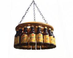 Beer Bottle Chandelier by BigSwigDesign on Etsy