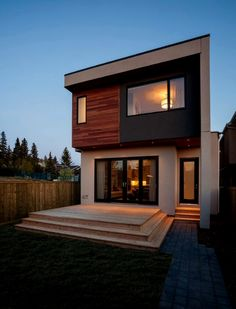 ✔ 39 new modern exterior design ideas for your house 19 – House Design Ideas Modern Small House Design, Minimalist House Design, House Front Design, Modern House Plans, Modern Contemporary House, Modern Minimalist, Modern Exterior, Exterior Design, Cafe Exterior