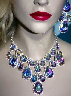Rhinestone Austrian Crystal Choker Necklace by BizarreJewels