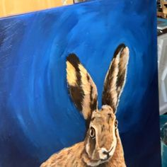 Painting lights and darks in acrylic by Kym Easter Animal Paintings, Animal Drawings, March Hare, Light Painting, Rabbit Fur, My Animal, Painting Techniques, Light In The Dark, Easter