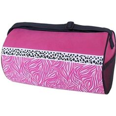 Sassi Design Girls Pink Black Candy Swirl Small Roll Dance Duffel Bag 503766f70dce8
