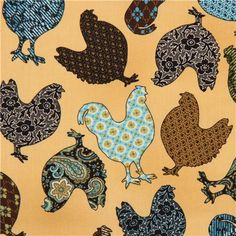 sand rooster animal fabric by Timeless Treasures USA