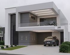 Modern Exterior House Designs, Best Modern House Design, Latest House Designs, Modern Architecture House, House Outer Design, House Front Design, Small House Design, Model House Plan, Home Building Design