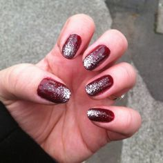 Paint nails red and silver. :)