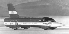 The Spirit of America Sonic 1 set a record at 600 m.p.h. in 1965