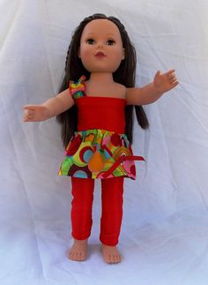 American Girl Doll Clothes 18 in Doll Red 3 by SouthernSister2,