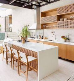 37 best stone wall ideas for rustic kitchen design 7 Barn Kitchen, Rustic Kitchen Design, Kitchen Dinning, Home Decor Kitchen, Kitchen Interior, Room Kitchen, Dining Rooms, Log Home Kitchens, Modern Home Interior Design