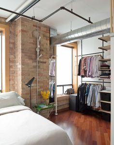 Industrial Bedroom by Pause Architecture + Interiors