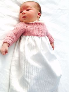 Heirloom Sewing, Knitted Dolls, Baby Sewing, Baby Knitting, Knit Dress, Baby Dress, Crochet Projects, Flower Girl Dresses, Clothes