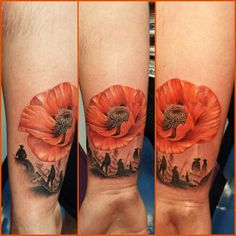 75 poppy tattoo designs for men - remembrance flower ink Poppy Tattoo Men, Poppy Tattoo Sleeve, Sleeve Tattoos, Remembrance Flowers, Remembrance Tattoos, Memorial Tattoos, Remembrance Sunday, Flower Tattoo On Side, Flower Wrist Tattoos