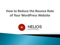 """While establishing a website, we generally are more worried about web traffic analysis, and how significant it is to spend enough time and money on increasing the traffic, page views, visitors, and conversion. That's how; people normally miss out on a metric called """"Bounce Rate"""". #wordpressspecialist #outsourcewordpress #wordpressexpert"""