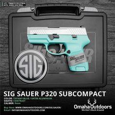 Sig Sauer P320 Subcompact Tiffany Blue 9mm 12 RDS 3.6″ Handgun - Omaha Outdoors