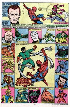 Spider-Man's rogues gallery including Doctor Octopus (from ASM #181)