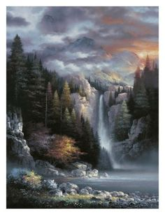 Misty Falls Posters by James Lee at AllPosters.com