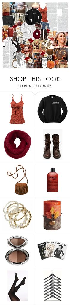 """""""♔; """"cause god is holding you right now"""""""" by the-forgotten-wolf ❤ liked on Polyvore featuring Abercrombie & Fitch, COVERGIRL, Old Navy, Chanel, H&M, philosophy, Pier 1 Imports, Assouline Publishing, collaboration and teesandtankyou"""
