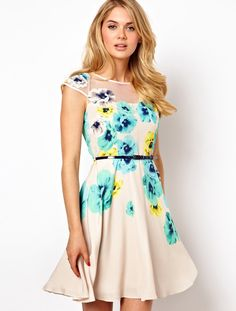 Apricot Floral Dress// I definitely just ordered this on a whim.