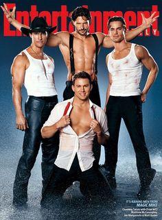 Channing Tatum, Matthew McConaughey, Joe Manganiello & Matthew Bomer in Magic Mike, Entertainment Weekly
