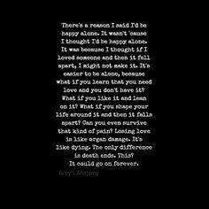 Grey's Anatomy #quote #greysanatomy #love