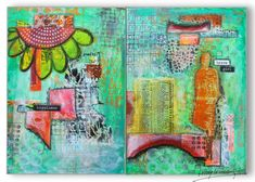 Art Journal collage spread